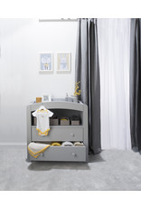 Boori Curved Two Drawer Chest Changer - Pebble