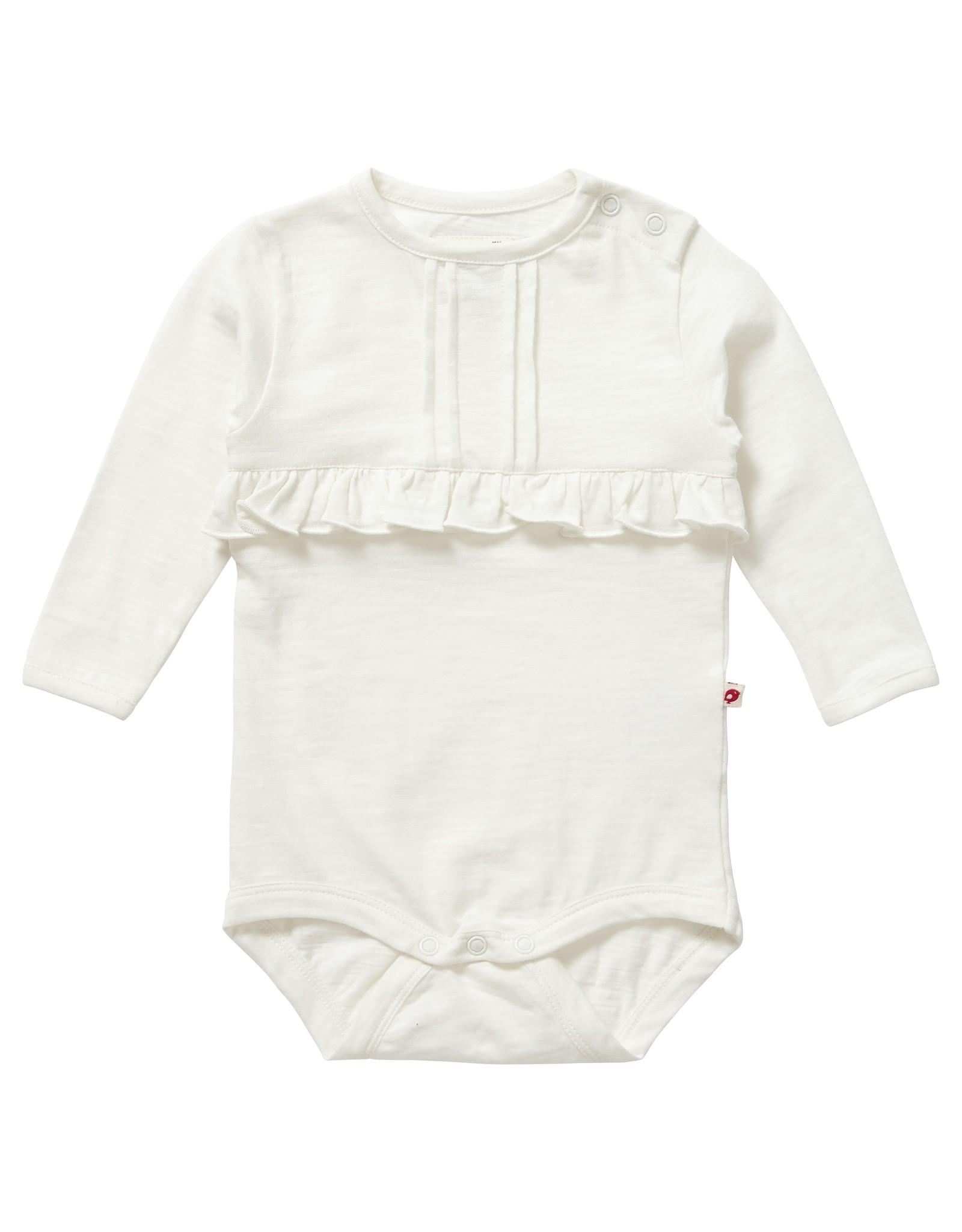 Piccalilly Baby Bodysuit - Cream Slub