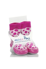 Mocc ons Mocc Ons- Pink Spot- 2-3 Years