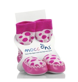 Mocc ons Mocc Ons- Pink Spot - 2-3 Years