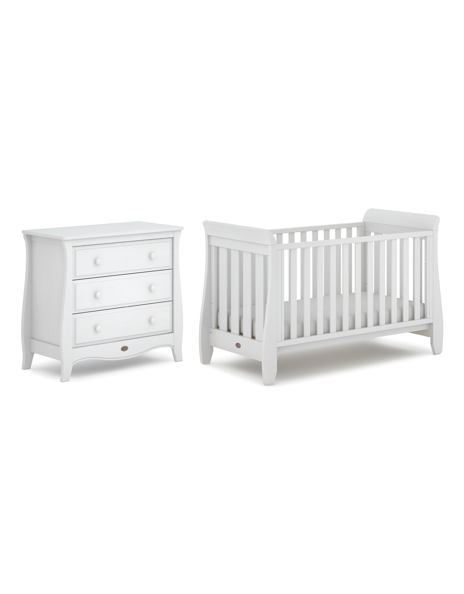 Boori Boori Sleigh Chest of Drawers (Smart Assembly)- White