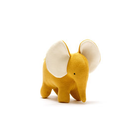 Best Years Large Elephant Mustard Organic Cotton Toy