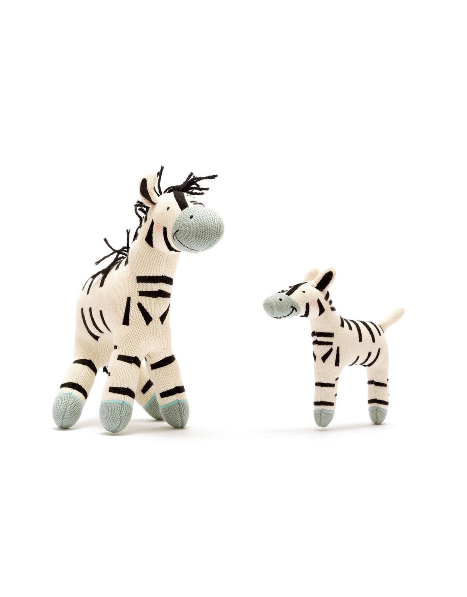 Best Years Small Organic Zebra Soft Toy