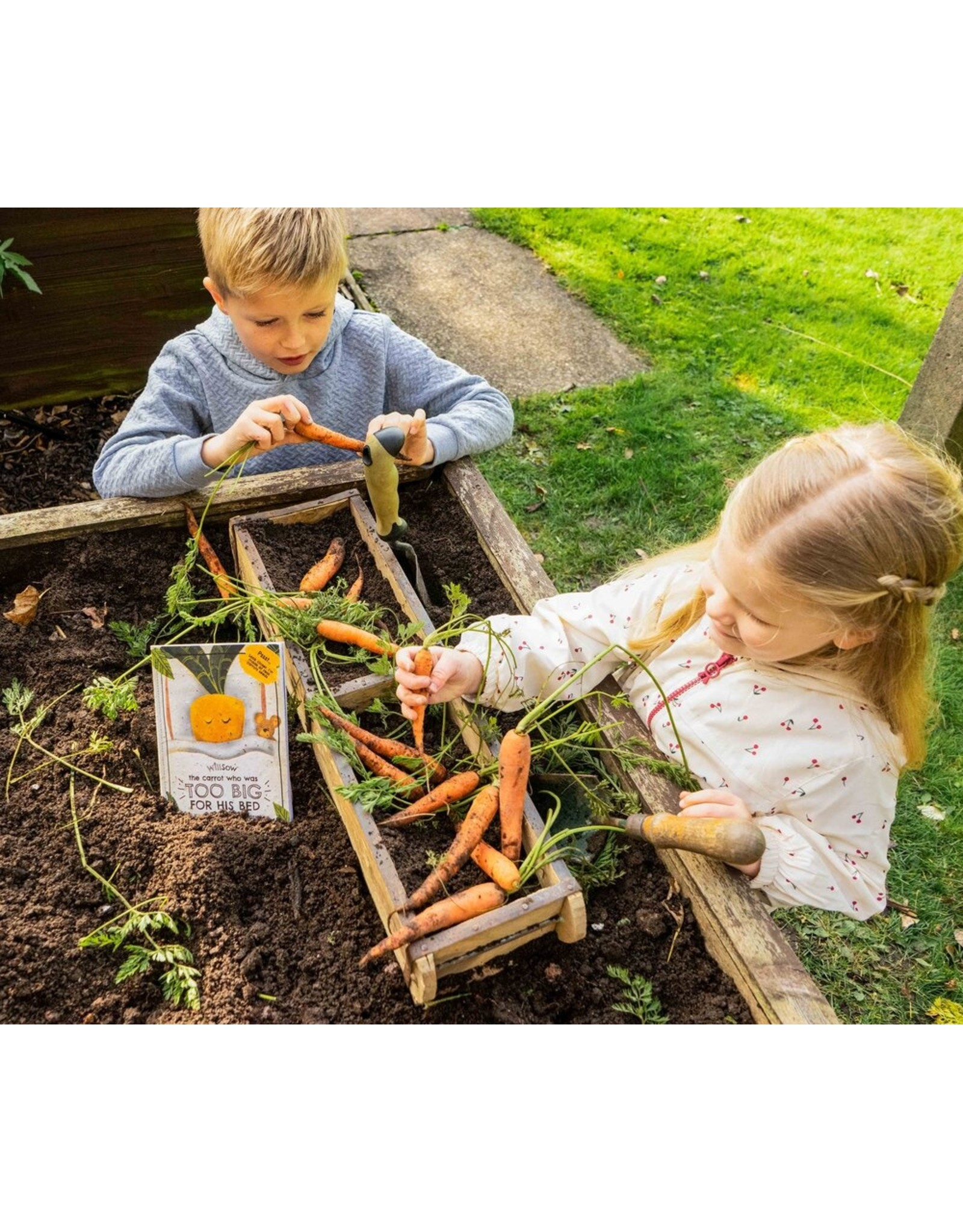 Plantable Children's Books- The Carrot Who Was Too Big For His Bed