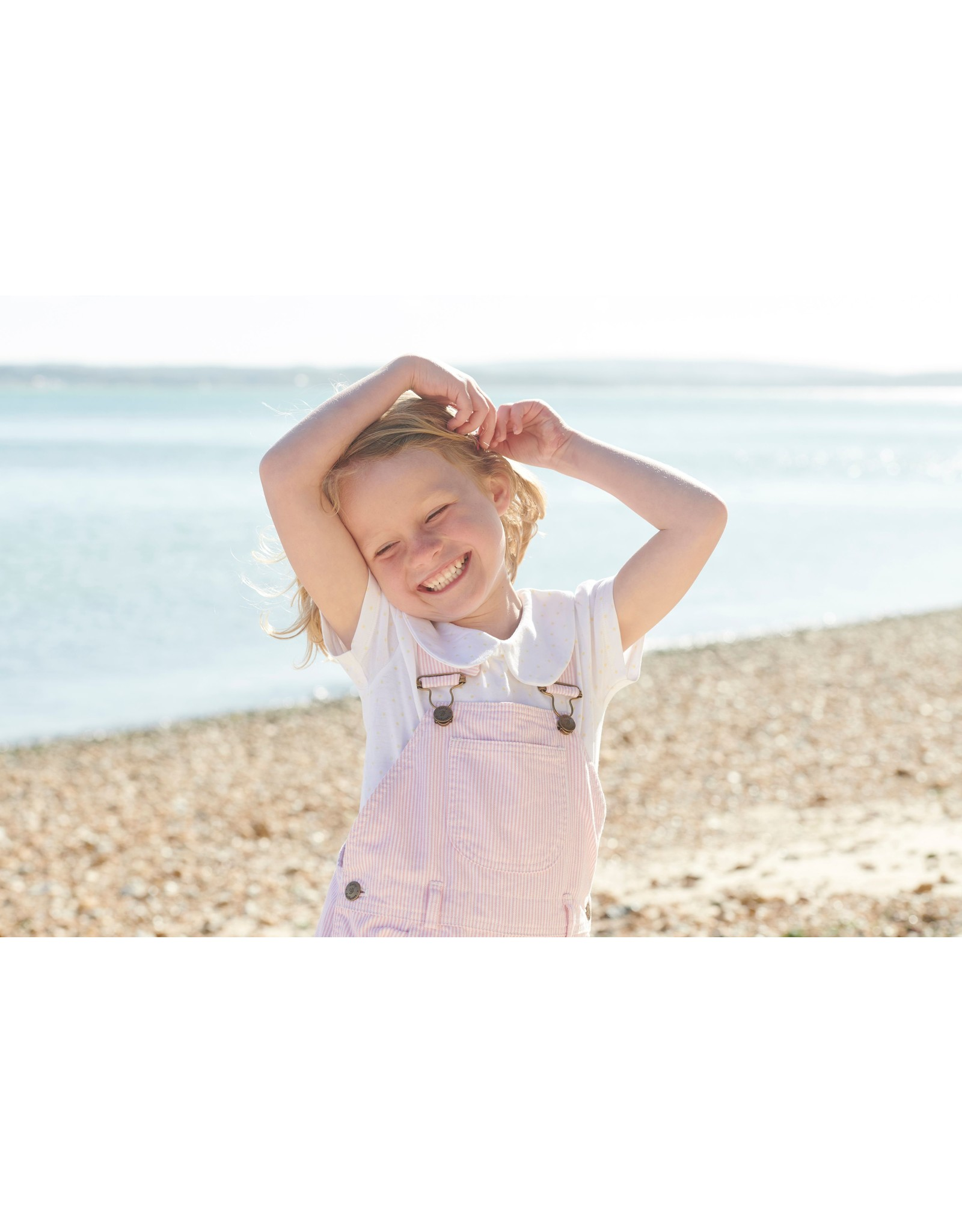 Dotty Dungarees Pink Striped Shorts