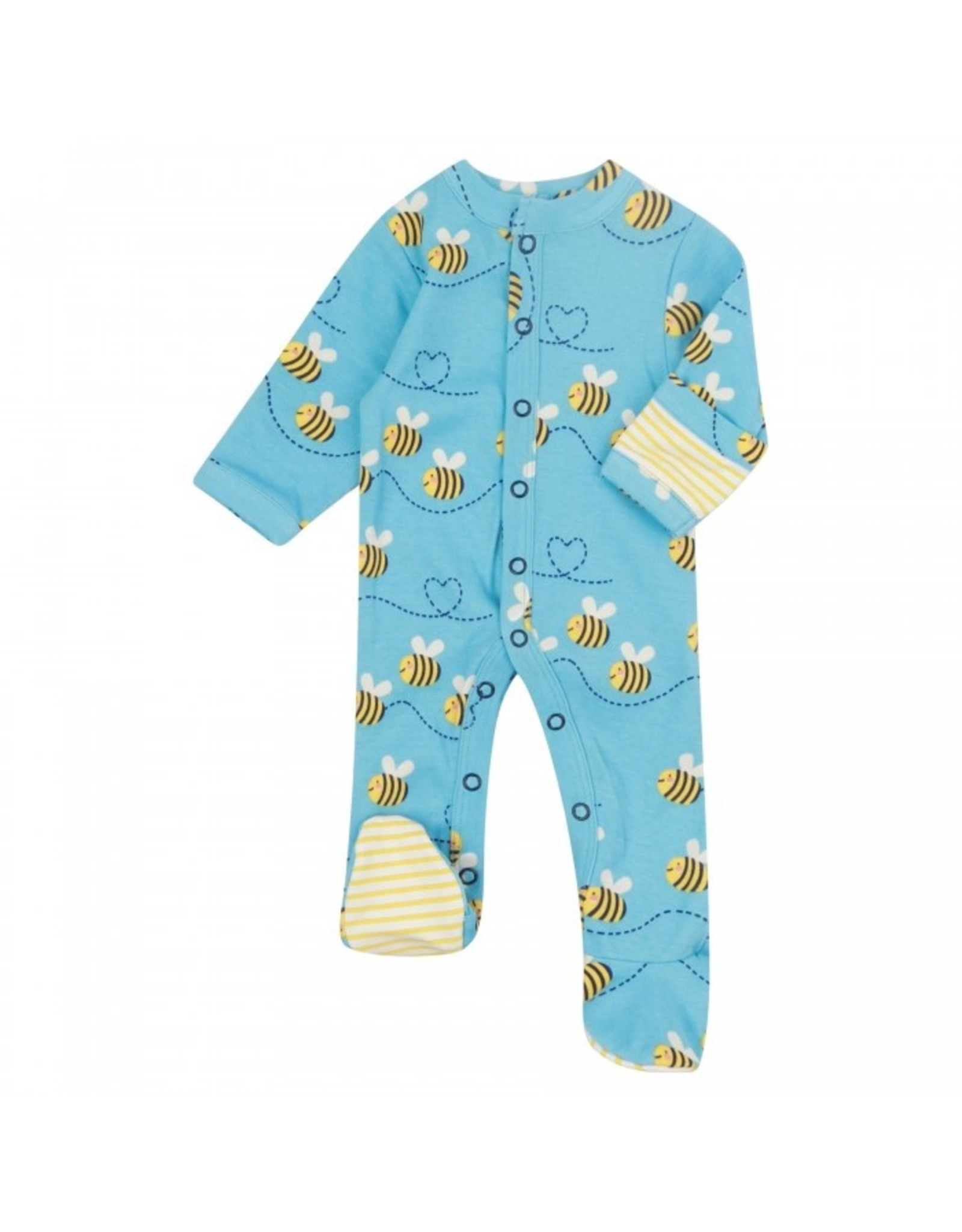 Piccalilly  Footed Sleepsuit - Bumblebee