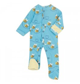 Piccalilly Footed Sleepsuit- Bumblebee
