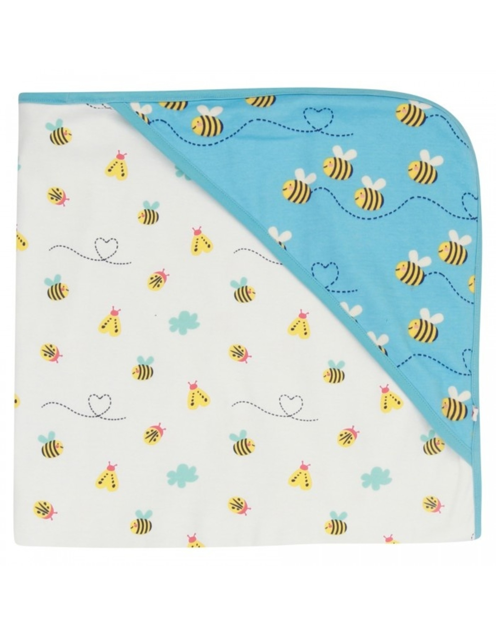Piccalilly Hooded Baby Blanket - Bumblebee