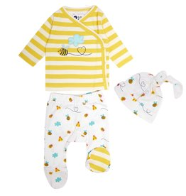 Piccalilly 3 Piece Baby Set - Bumblebee- Newborn