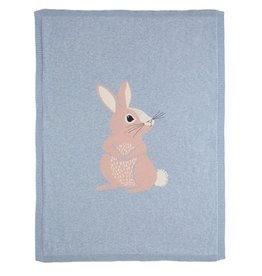 Bizzi Growin Baby Blanket- Cottton Tail Bunny Knitted Blanket
