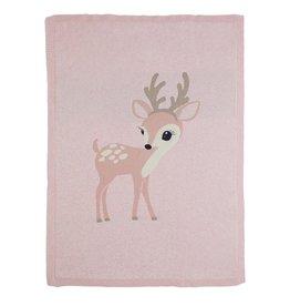 Bizzi Growin Baby Blanket- Felicity Fawn Knitted Blanket