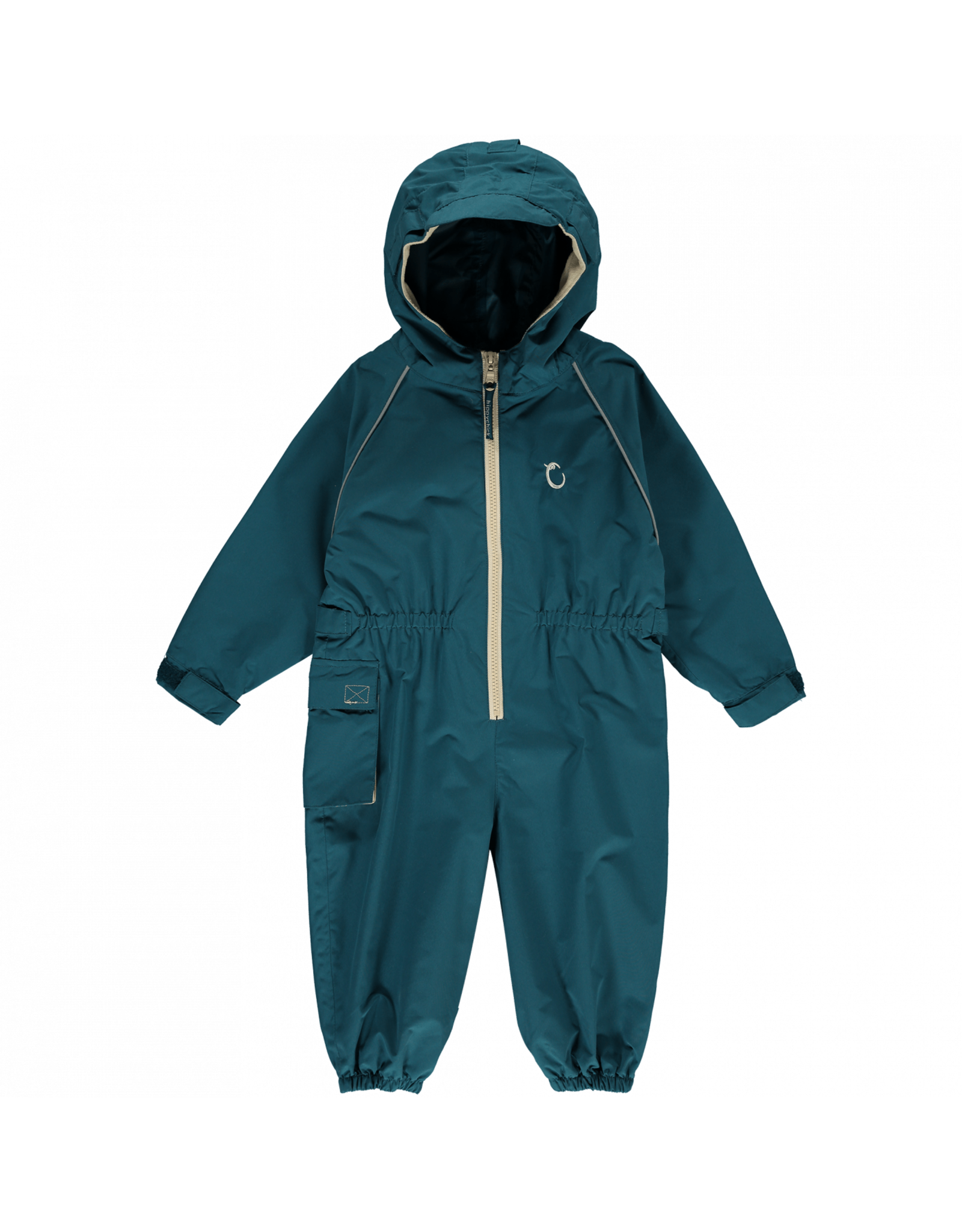 Toddler Waterproof Suit All in One Unlined- Peacock Green- 3-4 Years