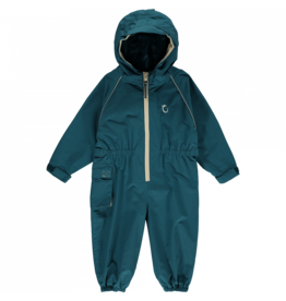 Toddler Waterproof Suit All in One Unlined - Peacock Green- 3-4 Years