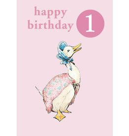 Beatrix Potter Happy Birthday - Age 1 with Badge