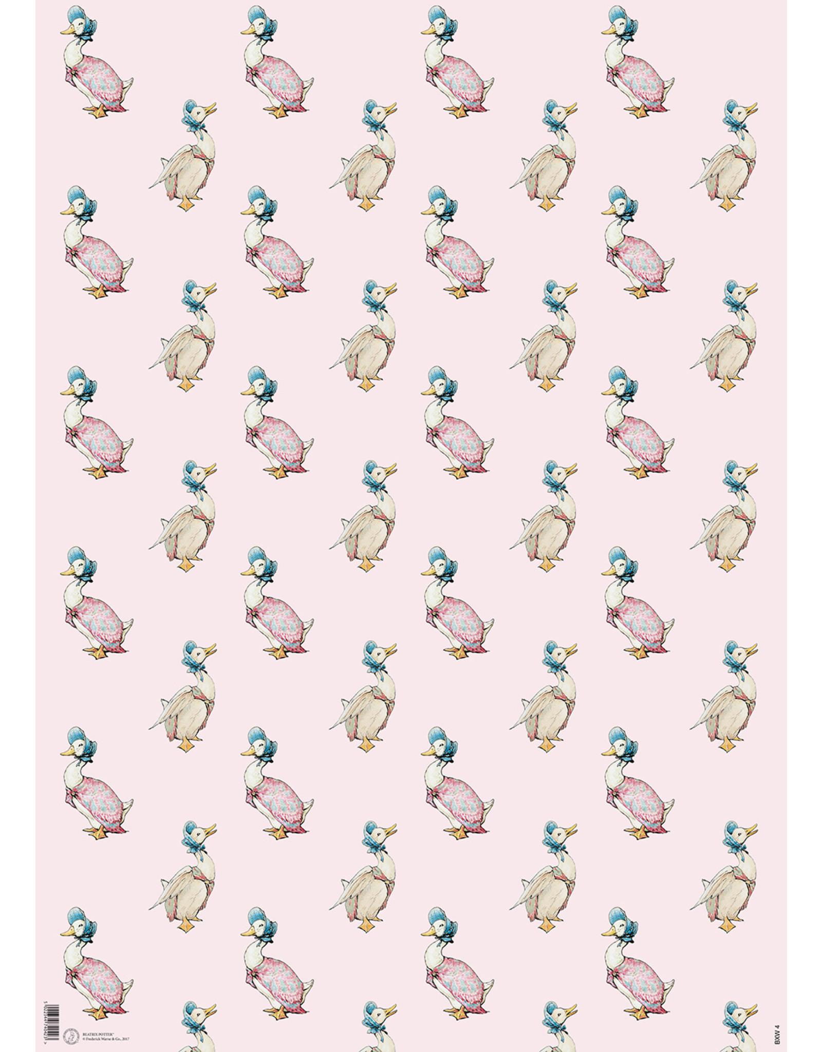 Beatrix Potter Gift Wrap -Jemima Puddleduck - Pink