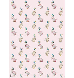 Beatrix Potter Gift Wrap - Jemima Puddleduck - Pink
