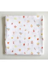 Fox in the Attic Muslin Swaddle Blanket - Little Flowers