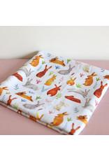 Fox in the Attic Muslin Swaddle Blanket - Bunnies