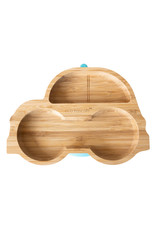 Eco Rascals Bamboo Suction and Section Plate - Car-Blue
