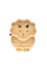Eco Rascals Bamboo Suction and Section Plate - Dinosaur - Purple