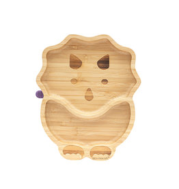 Eco Rascals Bamboo Suction and Section Plate - Dinosaur- Purple