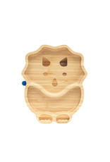 Eco Rascals Bamboo Suction and Section Plate - Dinosaur-Deep Blue