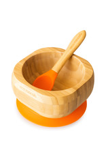 Eco Rascals Baby Bamboo Suction Bowl and Spoon Set - Orange