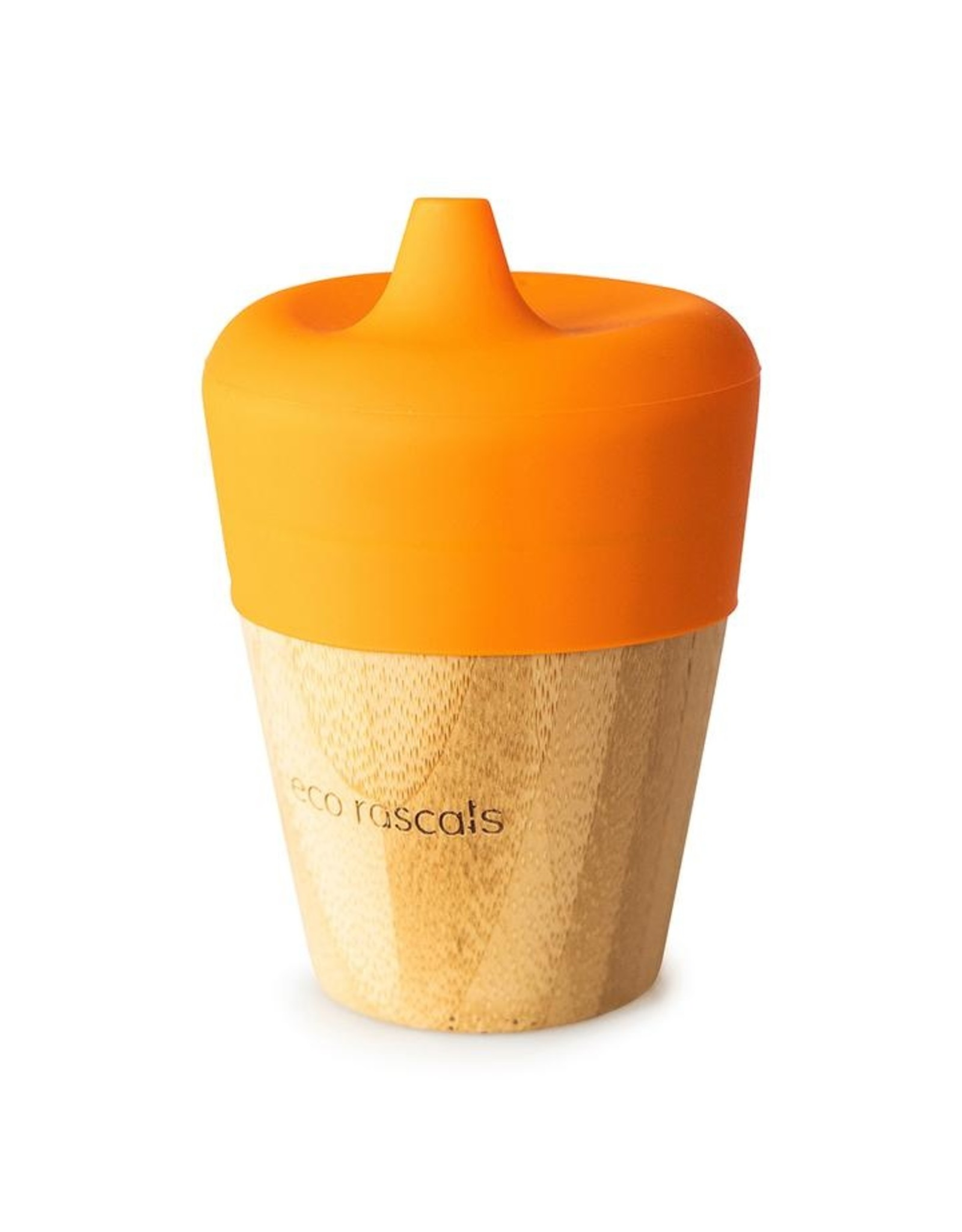 Eco Rascals Bamboo Cup (190ml) with Silicone Sippy Feeder- Orange