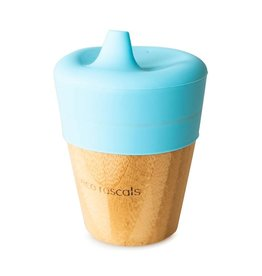 Eco Rascals Bamboo Cup (190ml) with Silicone Sippy Feeder - Blue