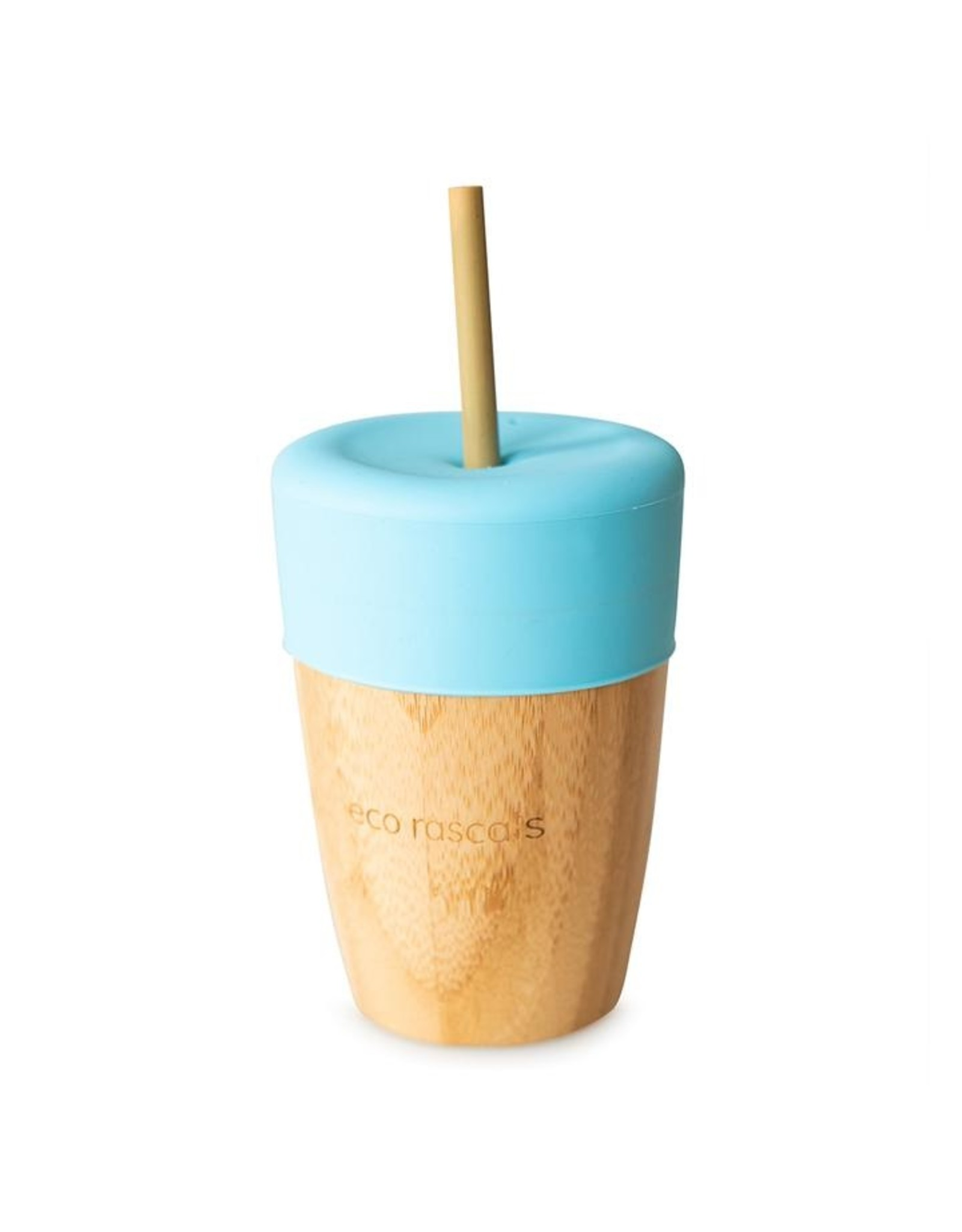 Eco Rascals Bamboo Cup ( 210ml) with Silicone Topper and 2 Bamboo Straws