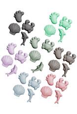 Scrunch Kids Scrunch Sand Moulds Footprints Set