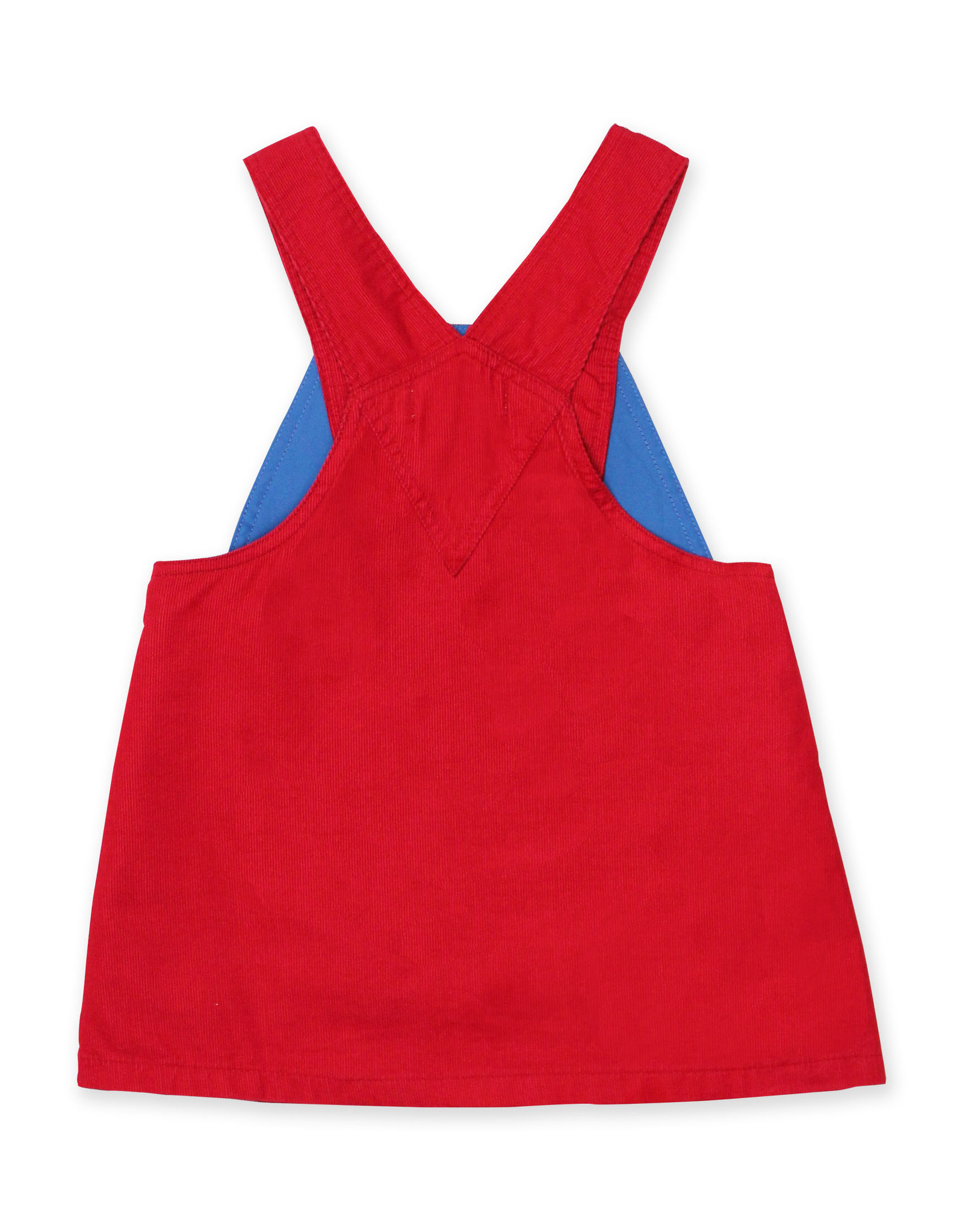 Toby Tiger Red Corduroy Dungaree Dress