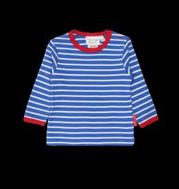 Toby Tiger Organic Blue Breton T Shirt