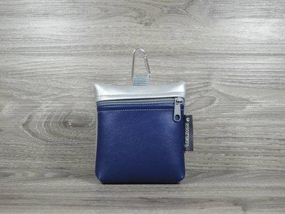 Edelzosse Leckerlitasche Nachtblau-Silber