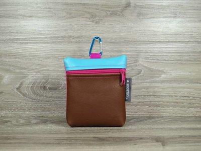 Edelzosse Leckerlitasche Braun-Pink *Einzelstück*