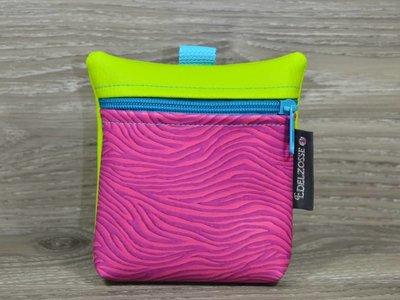 Edelzosse Leckerlitasche Zebra Pink- Apfelgrün