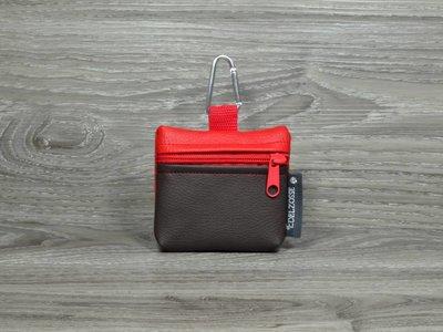 Edelzosse Mini-Tasche Braun- Rot