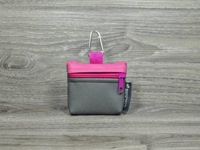 Edelzosse Mini-Tasche Grau-Pink
