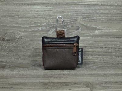 Edelzosse Mini-Tasche Braun-Schwarz