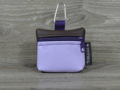 Edelzosse Mini-Tasche Flieder-Braun