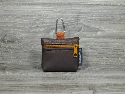 Edelzosse Mini-Tasche Braun-Krokobraun