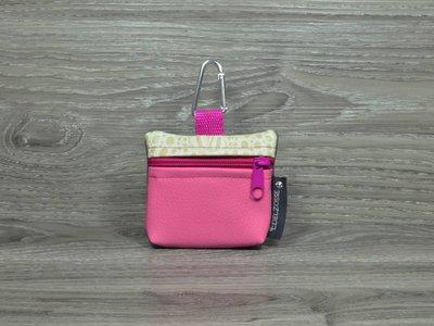 Edelzosse Mini-Tasche Pink-Krokobeige