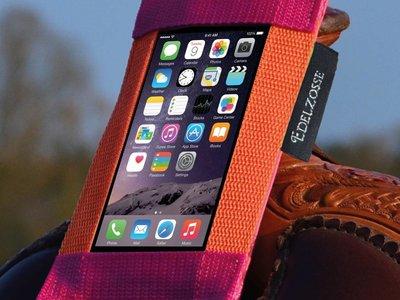 Edelzosse Westernsattel- Handytasche Orange-Pink