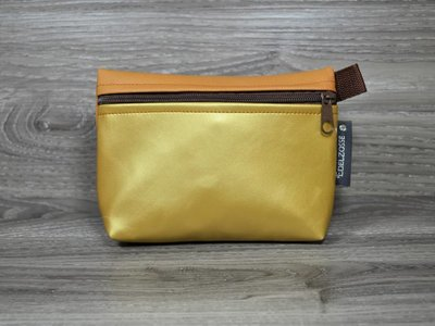 Edelzosse Makeup- Tasche Gold- Cappucino