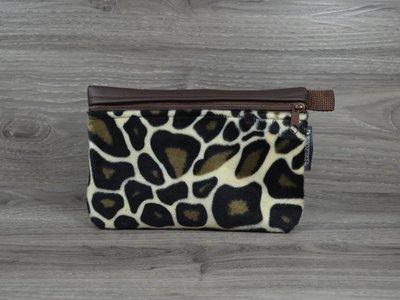 Edelzosse Makeup- Tasche Leopard- Braun