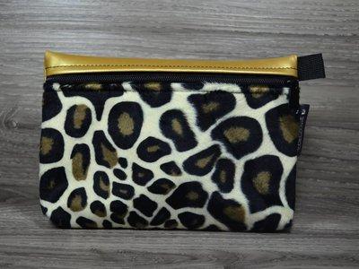 Edelzosse Makeup- Tasche Leopard- Gold