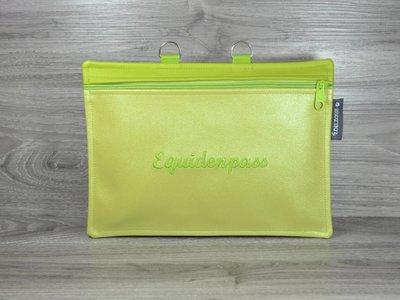 Edelzosse Equidenpasstasche Lemon Bestickt