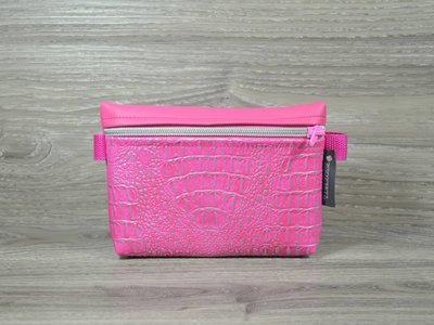 Edelzosse Bauchtasche Kroko Pink