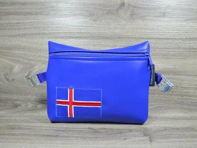 Edelzosse Notfalltasche Islandflagge- Bestickt