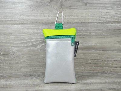 Edelzosse Handytasche Silber- Grün